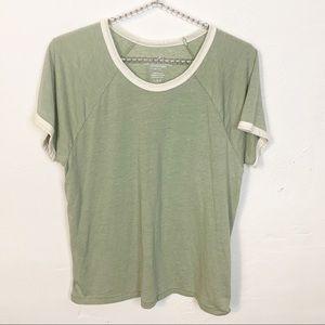 American Eagle l Green Ringer T-shirt
